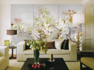 玻璃墙体彩绘效果图