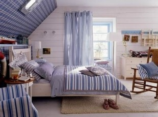 阁楼卧室地中海风