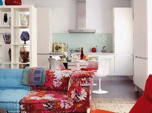 颜色配搭 地板区别客厅和餐厅