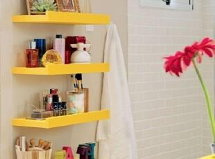 浴室墙面隔板收纳小点子