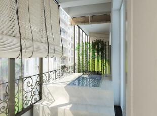 封闭式阳台设计成浴池