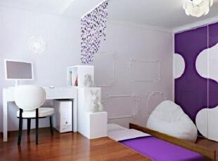 紫色对卧室的装饰