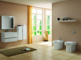 现代简约浴室 暖色温情配