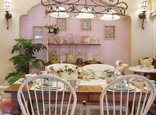 铁艺装饰的欧式个性餐厅