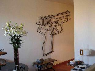 铁艺装饰的客厅墙面