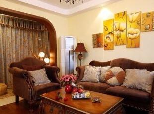 客厅低调奢华 家具欧式复古