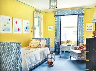 蓝黄搭配出 孩子的美妙天地