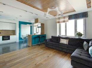 现代简约客厅混搭地中...
