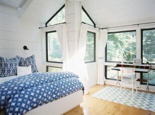 阁楼蓝色清新小资卧室