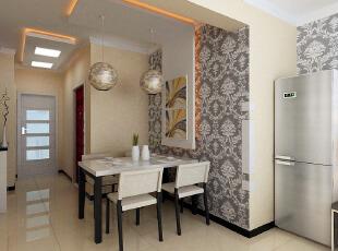 简约餐厅墙面花纹装饰