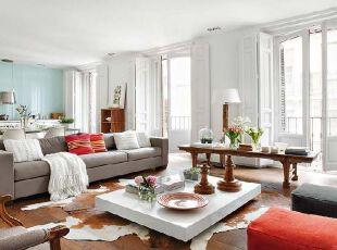 家居装饰配色之开放式空间配色讲究