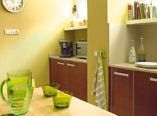 清新餐厅 温暖厨房空间