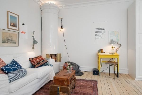 40.0平米公寓清新风格-谷居家居装修设计效果图