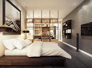 地台上的高雅卧室