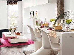 餐厅相连客厅 明朗开阔春光美