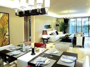 简约开放式餐厅和客厅设计