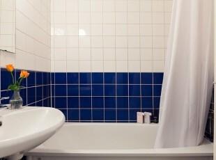 蓝白简约式浴室