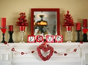房间装饰热烈红