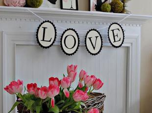 尝试黑白配字母 房间装饰漂亮又时髦