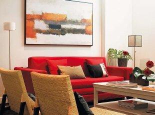 抽象画注脚客厅现代风