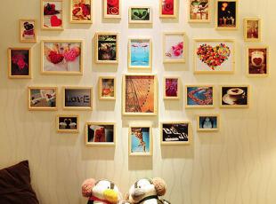 有爱的心形照片装饰墙
