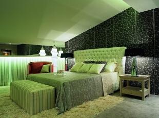 绿色简约卧室春色装扮