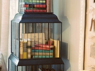 家庭收纳废品 鸟笼作回收临时地