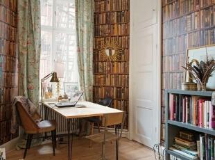 美式书房  强大的收纳壁柜