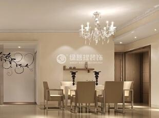 壁纸墙花栩栩如生 连接简约餐厅和客厅