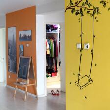 手绘墙图片打造春天多彩梦空间