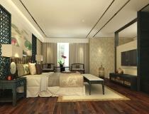 四合上院——120平中式现代风格两居室