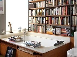 书架和浴缸