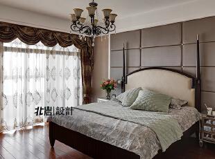 简单大气的主卧,主卧,美式,卧室,