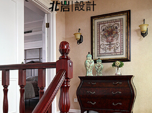 过道装饰,美式,楼梯,过道,