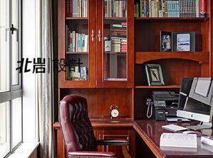 主人的工作空间,书房,美式,