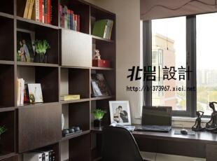 书房,实用大书架,书房,现代,