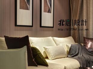 线条与几何图形的搭配拉伸空间感,客厅,现代,