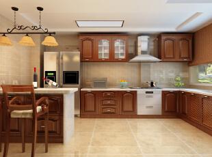 整个厨房采用红木整体橱柜古典韵味尽显。,厨房,