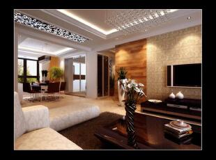 浅色的墙壁和深色系的茶几和电视柜在色彩上形成鲜明的对比,给人强烈的视觉冲击,皮质手感的沙发,给人惬意的享受,闲来无事坐在沙发上品尝着饭后甜点喝着热乎乎的coffee,生活无限惬意。,客厅,