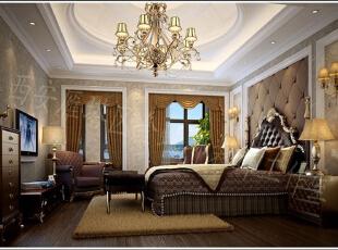 舒适感极强的大床,再搭配舒适的沙发,还有欧式的烛台,仿佛置身在异域的世界,卧室也采用了两开窗,开阔了视野,早晨醒来,拉开窗帘,向阳光说早安。,卧室,