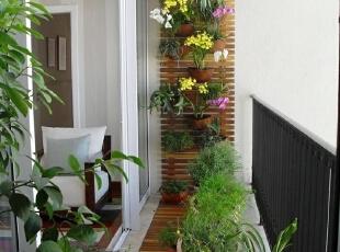 悬挂式花盆阳台
