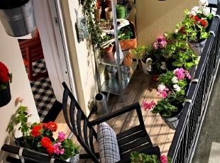 阳台花盆摆放设计