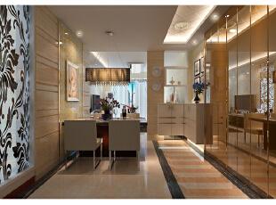 餐厅墙壁运用镜子做装饰,巧妙地延伸了视觉效果,使视觉空间变得宽敞,1