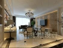 10万打造130平欧式风格三居室