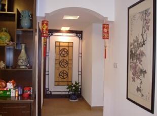 简约的中式走廊