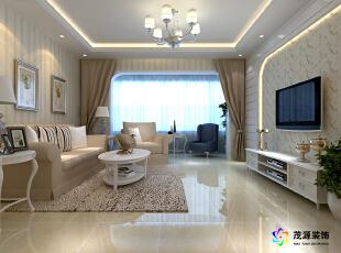 15万打造120平简约欧式三居室-120平米三居欧式风格图片