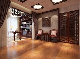 宽敞的中式大厅