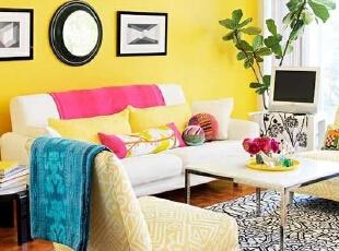 明亮糖果色客厅