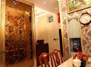 中南世纪城100平米跃层三居欧式风格背景墙设计