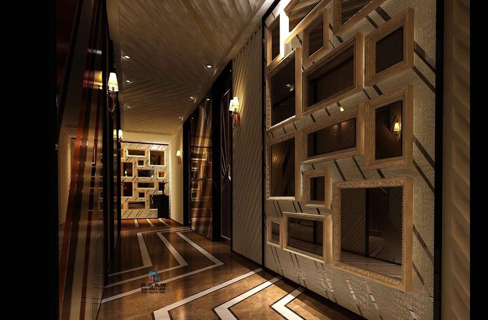顺德夜总会装修效果图-2000平米工装现代风格
